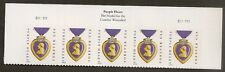 US 5035 Purple Heart Medal forever header strip 5 (2014 date) S111111 MNH 2015