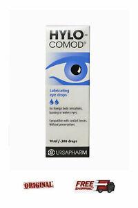 2x Hylo Comod Ursapharm 10ml Hyaluronic prescription-free eye drops