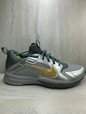 reputable site 34c2b d4059 Nike Men s Sz 11.5 Alpha Huarache Turf White Metalic Gold Shoes 923435