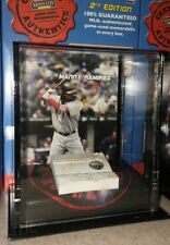 MANNY RAMIREZ BOSTON RED SOX 2007 MOUNTED MEMORIES GAME USED BASE DISPLAY CASE