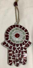 Good Luck Hamsa Blessing Red Tile Mosaic Evil Eye Protection Home Decor GLOBAL