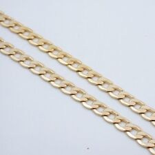 """24"""" 7MM MENS GOLD EP CUBAN LINK NECKLACE CHAIN"""