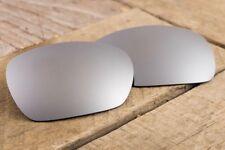 Chrome Silver Polarized Mirror Coated Lenses for Oakley Inmate - Dark Grey Tint