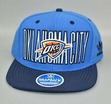 Oklahoma City Thunder adidas NBA Team Logo City Spell Out Men's Snapback Cap Hat