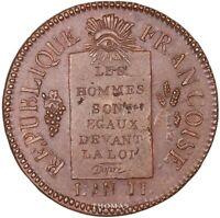 Convention - 1 Sol aux balances - 1793 AA Metz - Refrappe