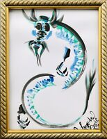 Margarita Bonke Malerei PAINTING Illustration art China Drache Dragon Japan A3