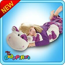 """Authentic Pillow Pets Squiggly Cow White and Purple Large 18"""" Plush Toy Gift"""