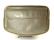 Authentic LOUIS VUITTON FULTON Patent Leather Light Green Waist Belt bag LP5836L