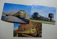 USA1072 - 3 x UNION PACIFIC RAILROAD - LOCOMOTIVE Postcards USA