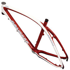 "PANERAE Cuadro Bicicleta Fibra Carbono MTB + Tija + Cierre. Burdeos 26"" - 27.5"""
