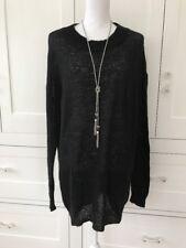 Brandy Melville, long black Italian wool sweater Dress/tunic women's one size
