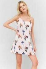 Urban Outfitters Pins & Needles Pink Floral Slip Dress Size L Lf172 EE 18