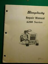 Simplicity 6200 Series Lawn & Garden Tractors Shop Manual