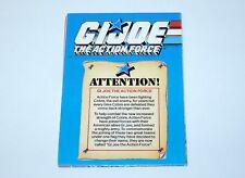 "1988 GI JOE BROCHURE CATALOG FOLDOUT POSTER ""THE ACTION FORCE"" - HASBRO UK EURO"