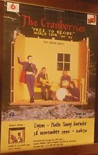 TOUR POSTER~The Cranberries 1996 Free To Decide World Tour Faithful Departed NOS