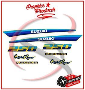 Suzuki LT250R Quadracer Decals Kit Graphics Sticker 85-92 Model Premium Vinyl