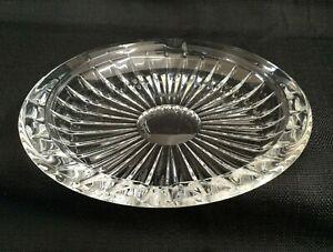 "VAL ST. LAMBERT Belgian Clear Cut Crystal ASHTRAY • 6 1/4"" • Balmoral Cut •MINT!"