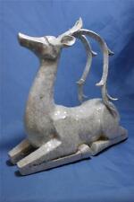 """New White Sparkle Glitter Elegant  Reindeer Deer Statue 11"""" Christmas Decor"""