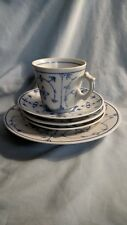 Mixed Lot of Strawflower Dishes - Cup, Saucers (3), and Dessert Plate