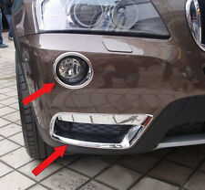 4*Chrome Front Top + Bottom Fog light lamp Cover Trim For BMW X3 F25 2011-2014