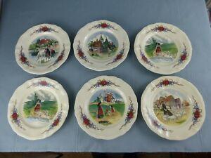SARREGUEMINES Obernai Loux lot de 6 petites assiettes plates à dessert 21 cm G