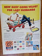 1953 Gold Bond Samt Farben AD Lazy Ehemänner Liebe leicht laufenden Samt