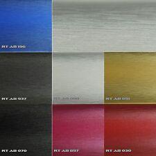 9,8?/m² Alu Brushed gebürstet Autofolie Luftkanal 3D Aluminium Folie 152cm breit