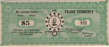 Waco, Texas,  $5.00 note, Branch Davidian Compound, 1938, uncirculated