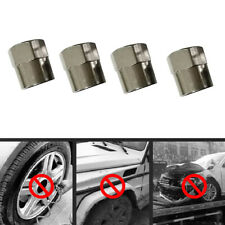 5x Hexagon Stainless Steel Tyre Tire Dust Caps Wheel Air Valve Stem Screw Cover