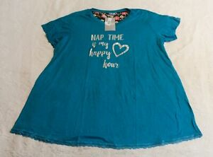 Cool Body by Avenue Women's Plus Nap Time Sleepshirt CD4 Teal Size 22/24 NWT