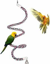 New listing Aigou Bird Spiral Rope Perch, Cotton Parrot Swing Climbing Standing Toys With Be