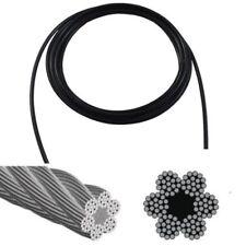 Gym Cable 6 x 19 Fiber Core 1 Metre // Flexible Commercial Replacement Row Lat