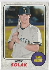 Nick Solak RC 2017 Topps Heritage Minors Gray Border 18/25 SP Tampa Bay RAYS