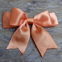 """4"""" Satin Large Double Bows Ribbon Bows With Tails  -approx 3-4"""" wide Beautiful"""