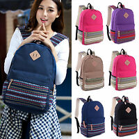 Unisex Adults Canvas Backpacks Bohe Look Shoulder School Bags Laptop Rucksacks