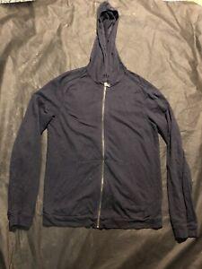 John Varvatos Star USA Full Zip Hoodie Sweatshirt S Light Weight