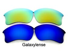Replacement Lenses for Oakley Flak Jacket XLJ Blue&Gold Polarized 2 PAIRS