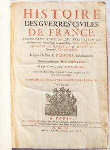 France DAVILA Guerres Civiles Civil War Rocolet 1657 Kerrich Geldeston Hall RARE