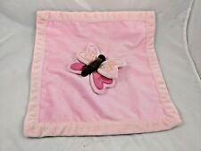 Amy Coe Pink Butterfly Lovey Security Blanket