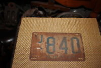 Antique Retired NJ License Plate-1947-UC840-Automobile