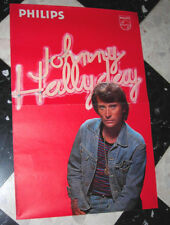 RARE Affiche Promotionnelle JOHNNY HALLYDAY -Philips- Années 70