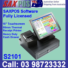 SAXPOS S2101 Touchscreen Basic POS System (Point of Sale) System with Software