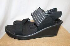 Women's SKECHERS 11 black memory foam wedge sandals AWESOME!