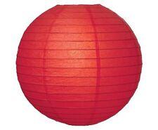 "WeGlow International 12"" Deluxe Paper Lantern - Red (3 Pieces)"