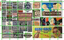 NH068 DAVE'S DECALS N SCALE BUSINESS SIGNS BILLBOARD COCOA JELL O FURS PHONE ETC