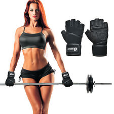 Fitness Wristwrap Weight Lifting Gloves Gym Workout Training Half Mitts Elastic