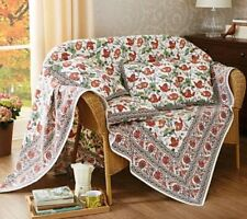 Kalamkari Luxury Throw Sofa Bed Tablecloth Dining 100% Cotton Made in India NEW