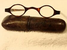 """1780's  """"WIG SPECTACLES""""  FROM ENGLAND IN A 2 PIECE VELUM CASE GREAT CONDITION!"""