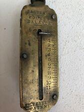 Ancien Peson  balance de poche laiton et metal 12kg, Salter's Silvester's Patent