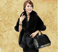 New Fashion Womens Faux Mink Fur Shawl Shrug Wrap Cape Prom Wedding Evening Coat